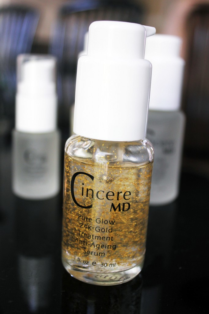 24K gold facial serum cincere